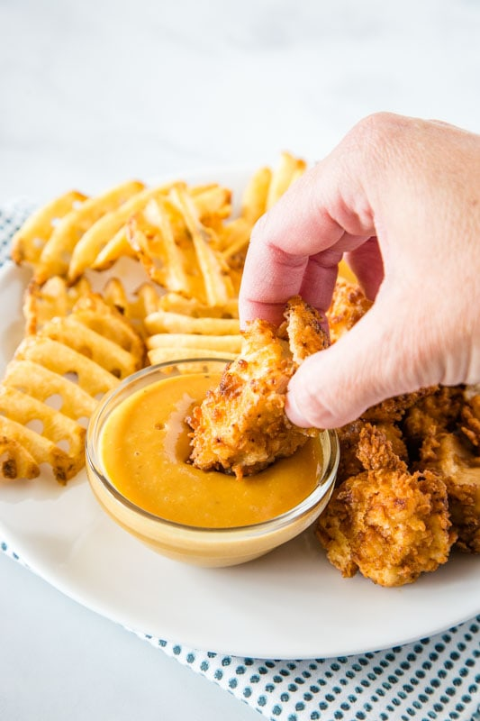 The famous Chick Fil A Chicken Nuggets at home! Super crispy and delicious