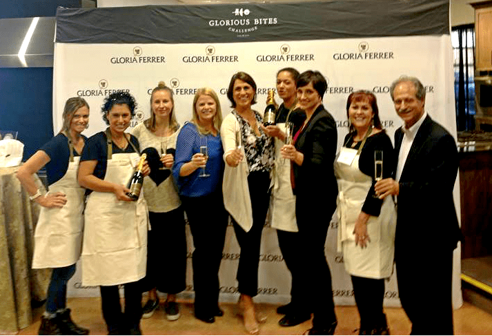 Gloria Ferrer Semi-Finalists with the judges and head of the winery