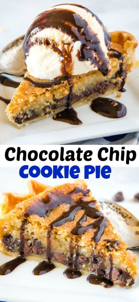 A piece of pie on a plate, with Chocolate and Cookie
