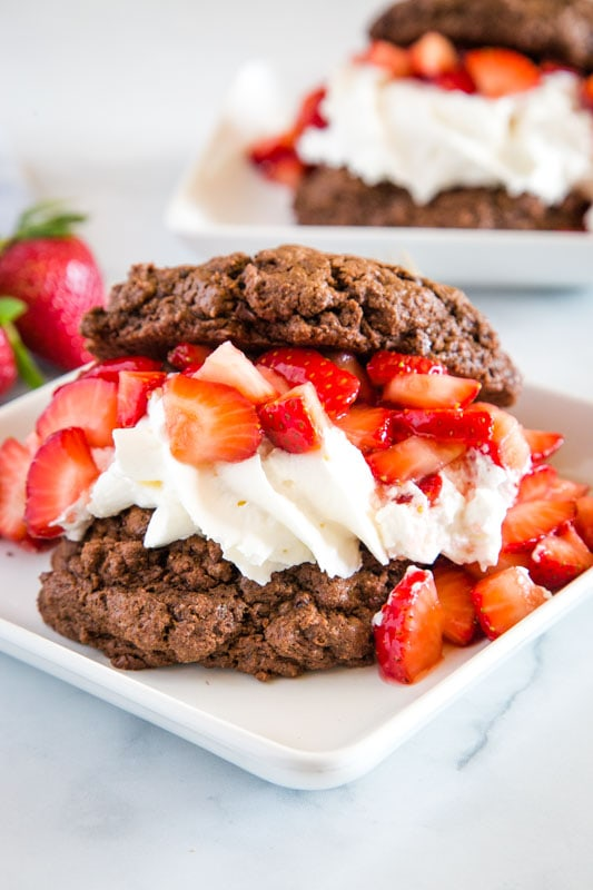 Chocolate biscuits take strawberry shortcake to a whole new level!