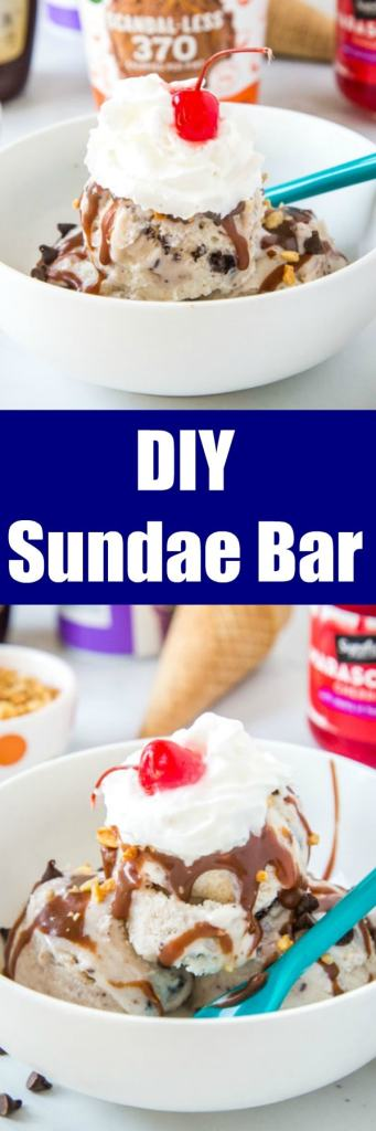 Ice Cream Sundae Bar - set up a build your own ice cream sundae bar for your guests complete with all your favorite toppings, whipped cream, cherries, and all sorts of ice cream varieties!