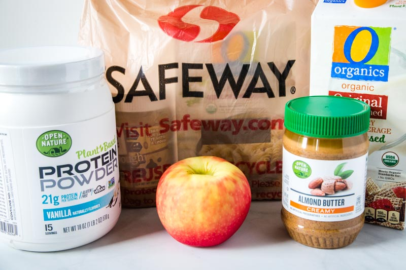 safeway grocery bag with smoothie ingredients