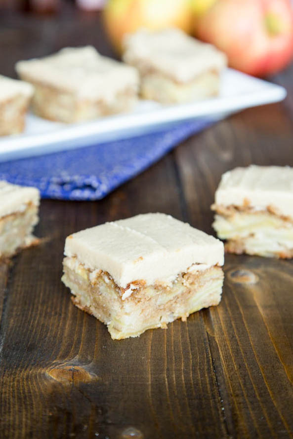 apple bars with cinnamon frosting