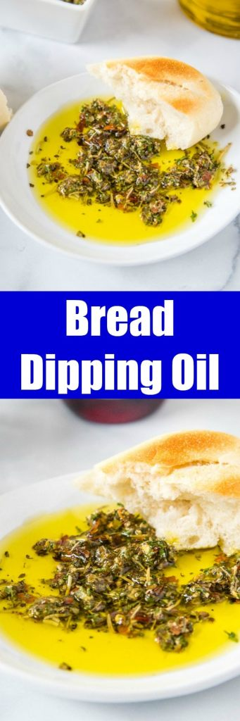 close up bread dipping oil