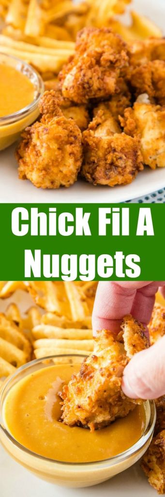 Copycat Chick Fil A Chicken Nuggets - Make your favorite chicken nuggets at home with just a few simple ingredients. Super crispy and so easy to make!