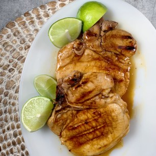 citrus glazed pork chops