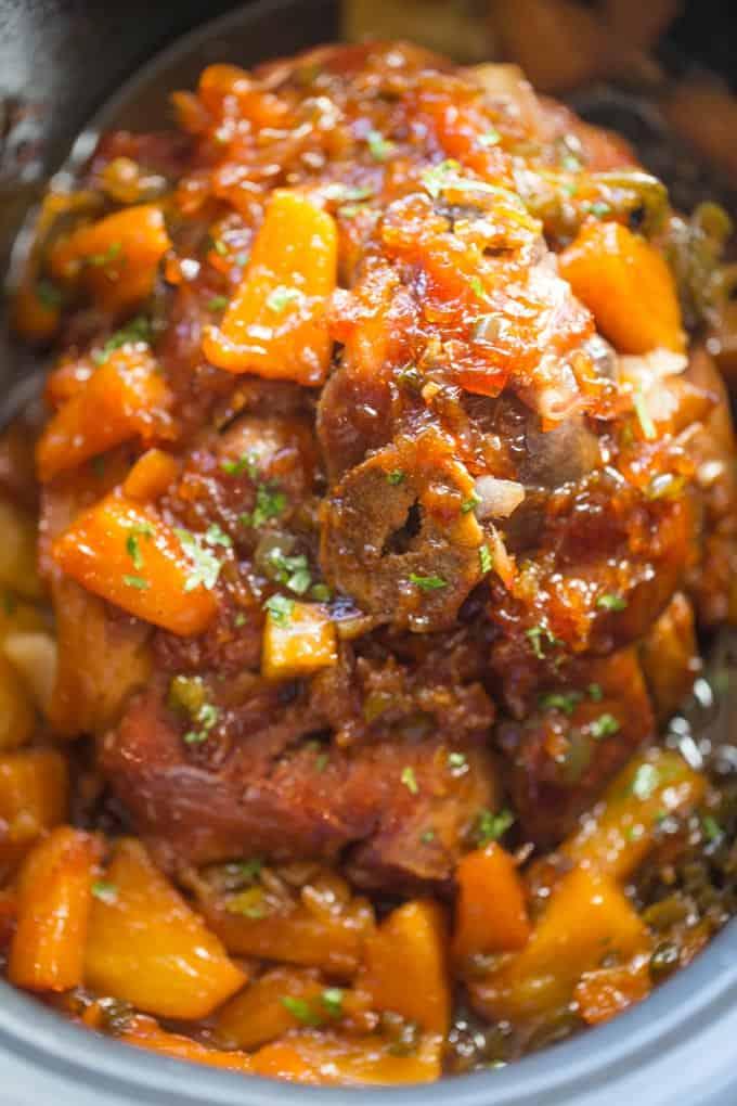 Slow Cooker Jalapeno Pineapple Pork Dinner Then Dessert