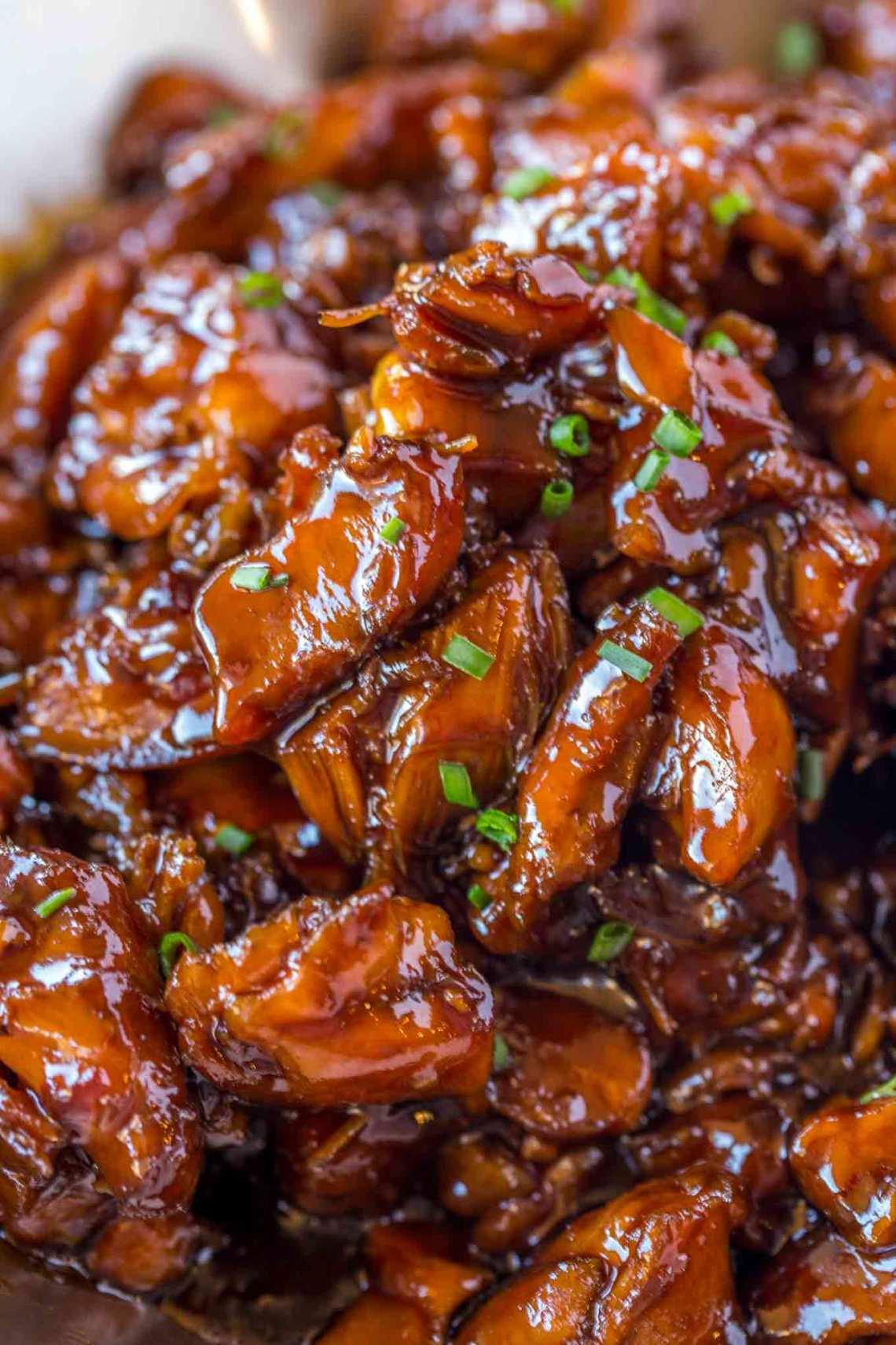 Easy Bourbon Chicken - Dinner, then Dessert