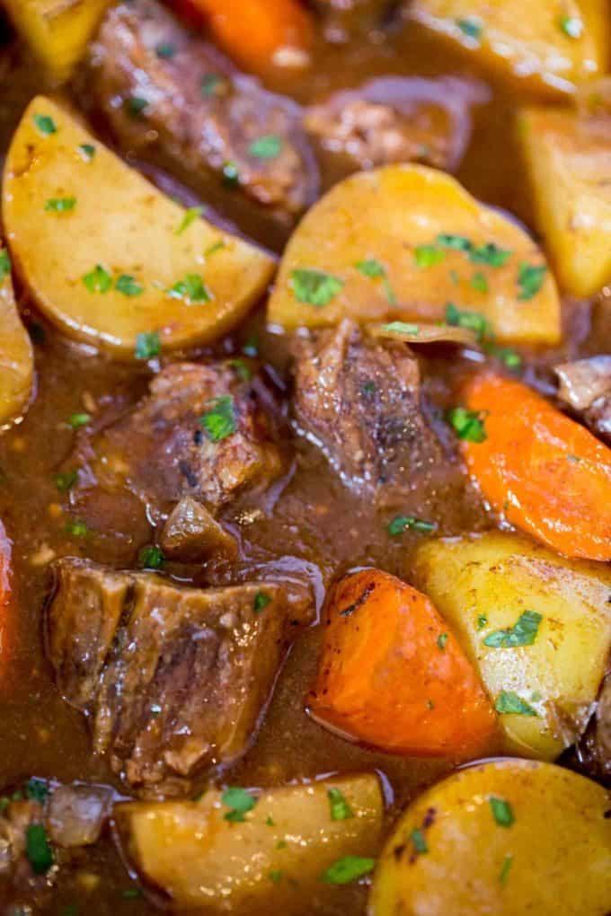 Ultimate Slow Cooker Beef Stew - Dinner, then Dessert