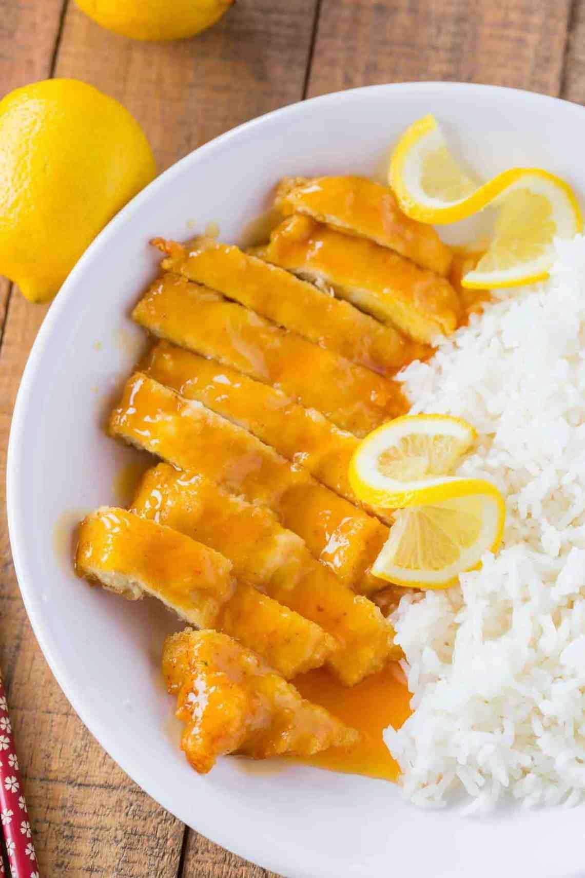 Chinese Lemon Chicken - Dinner, then Dessert