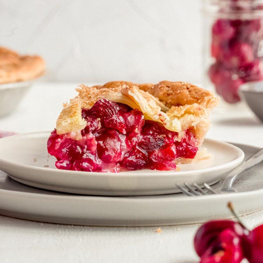 Cherry Pie slice on plate