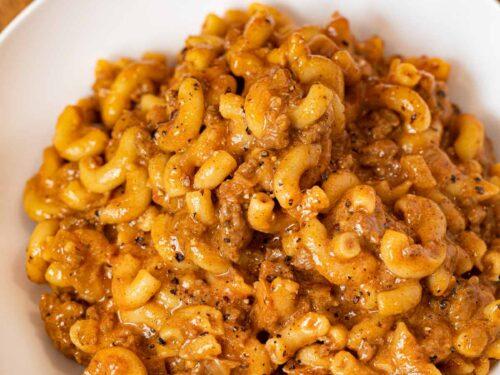 Chili Mac in bowl
