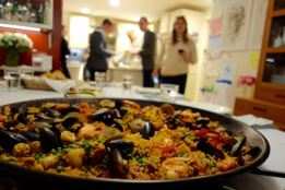 A view from the paella pan