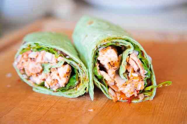 Sweet Chili Salmon Wrap