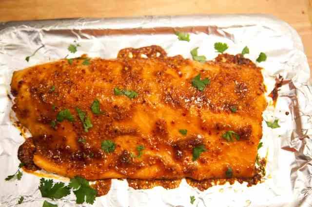 Baked Bourbon Salmon