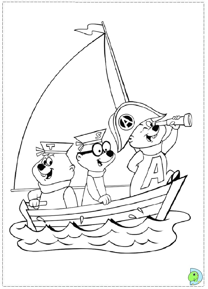 alvin and the chipmunks coloring page dinokids