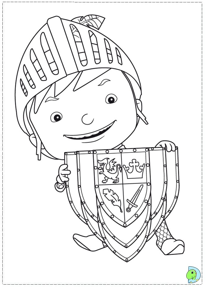 Mike The Knight Coloring Page