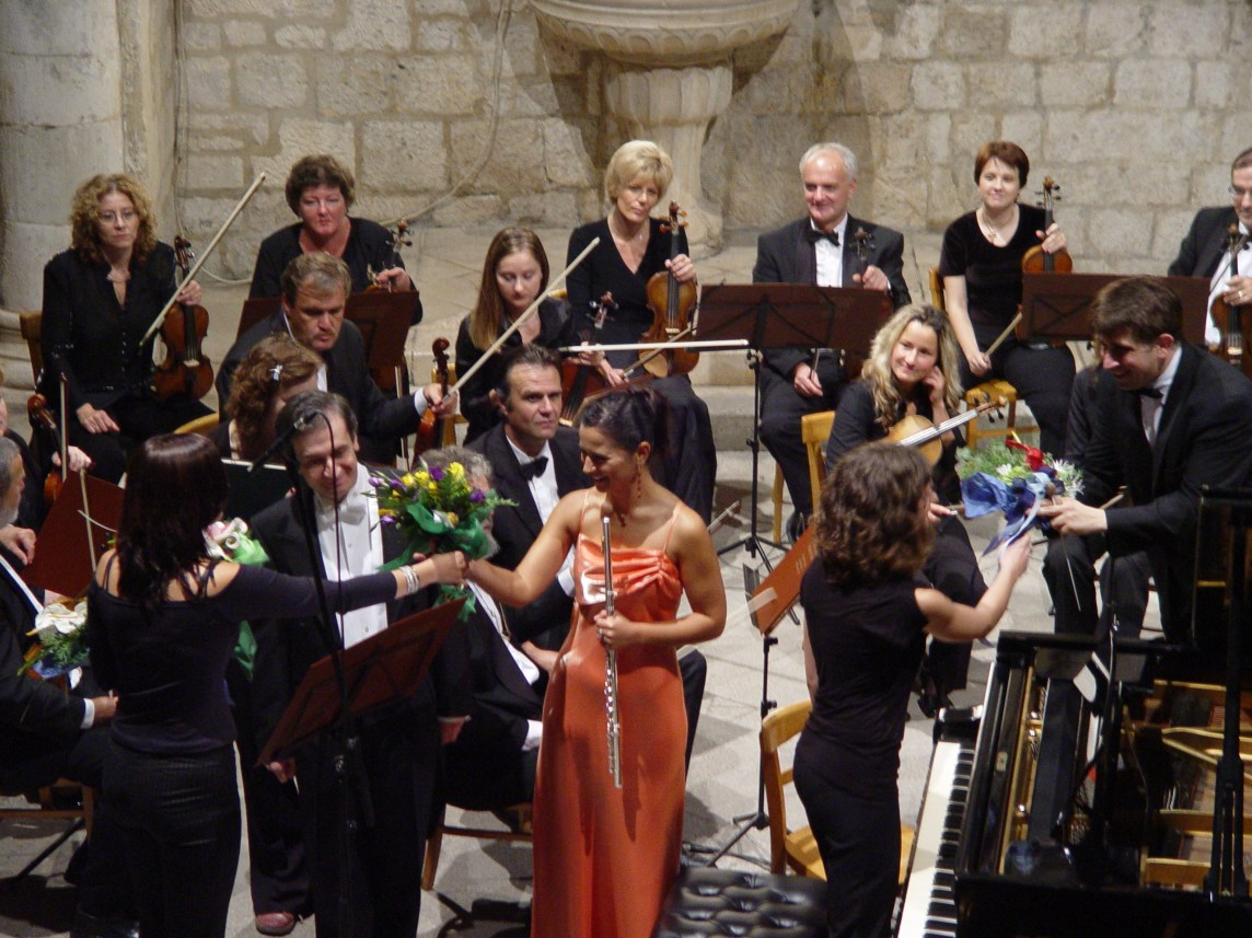 Rector's Palace 'Atrium' - Dubrovnik, Croatia - as a soloist with the Dubrovnik Symphony Orchestra