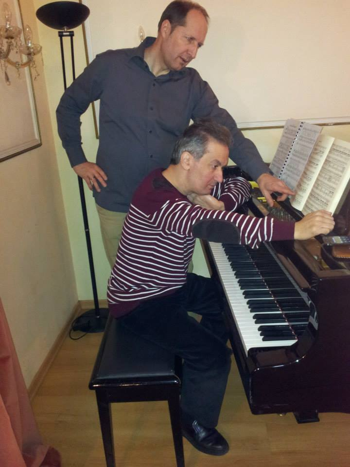 preparing Schubert with my friend, Viennese baritone Georg Lehner