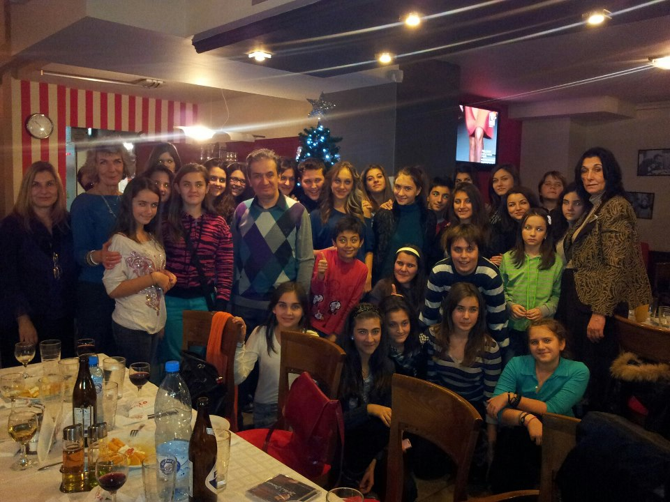 with the Children's choir 'Milka Stoeva' from Bulgaria