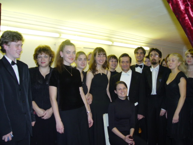 with the members of the Orchestra of the St-Petersburg University after my concert