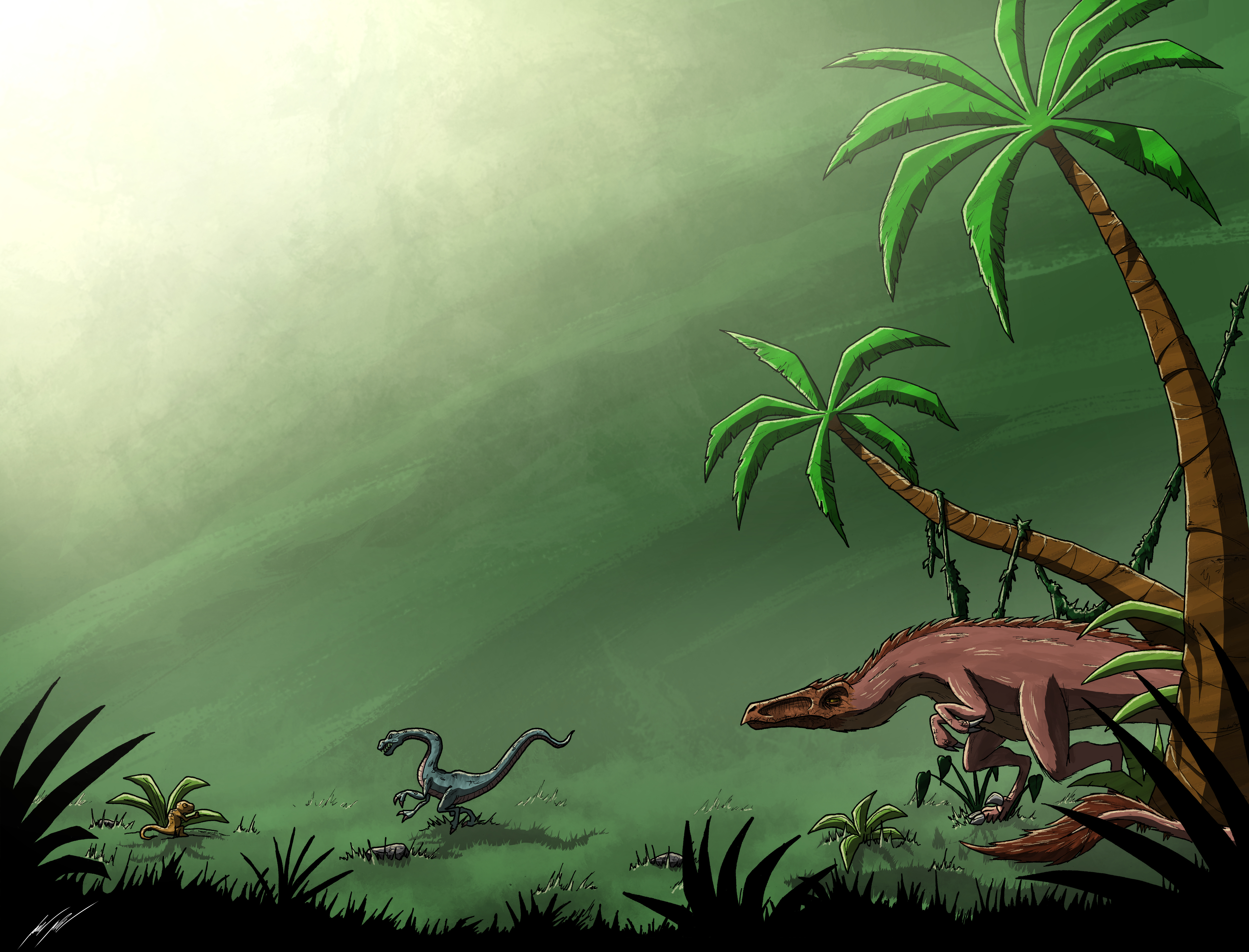 It's a dino-eat-dino world out there. . .