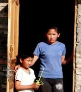 Niños en Gobi Mongolia