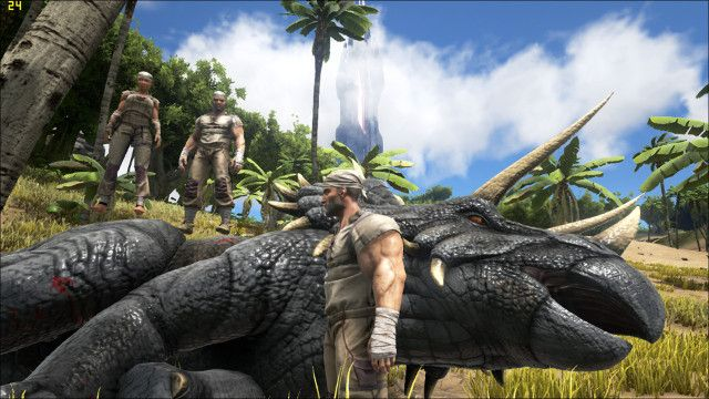 playing with friends in ARK
