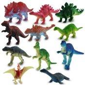 12 x Kunststoff Dinosaurier sortiert Plastikfiguren 7 cm - 1