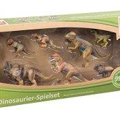 Idena 40102 - Spielset Dinosaurier mit 7 Tieren, inklusive App Inhalte für iPhone und Android - 1