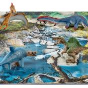 Schleich® Spielfigurenset, »World of History Dinosaurier - Mini Dinos mit Puzzle Wasserstelle«
