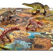 Schleich® Spielfigurenset, »World of History Dinosaurier - Mini Dinos mit Puzzle Sumpfgebiet«