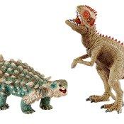 Schleich Dinosaurier: 41426 Saichania und Giganotosaurus, klein