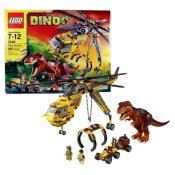 Lego Year 2012 DINO Series Set# 5886 : T-REX HUNTER with Helicopter, Scout Vehicle, T-Rex Dinosaur and 2 Hero Minigifures (Total Pieces: 480) by Dino - 1