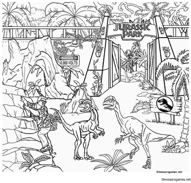Jurassic World Coloring Page - Dinosaur Coloring Pages