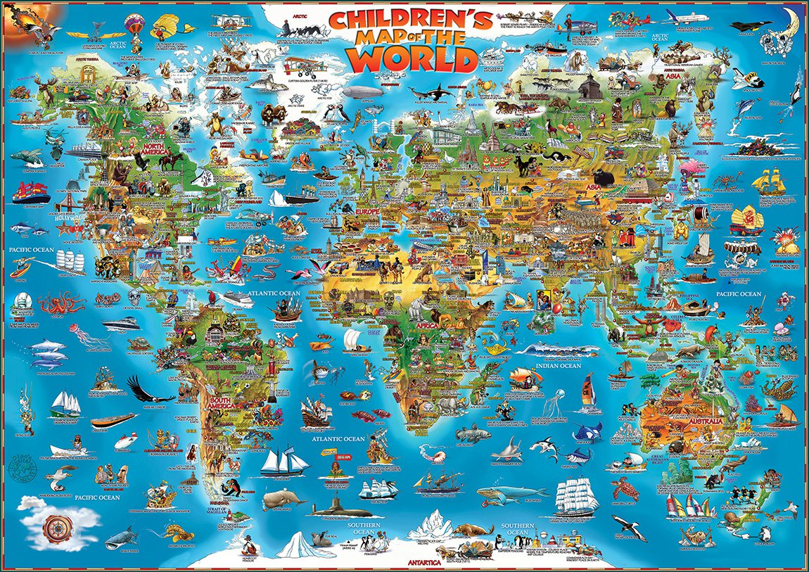 Children S Map Of The World Amp Ancient World