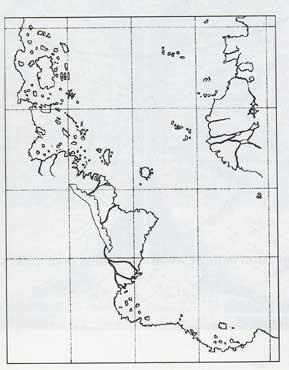 Carte de Piri Reis simplifiée