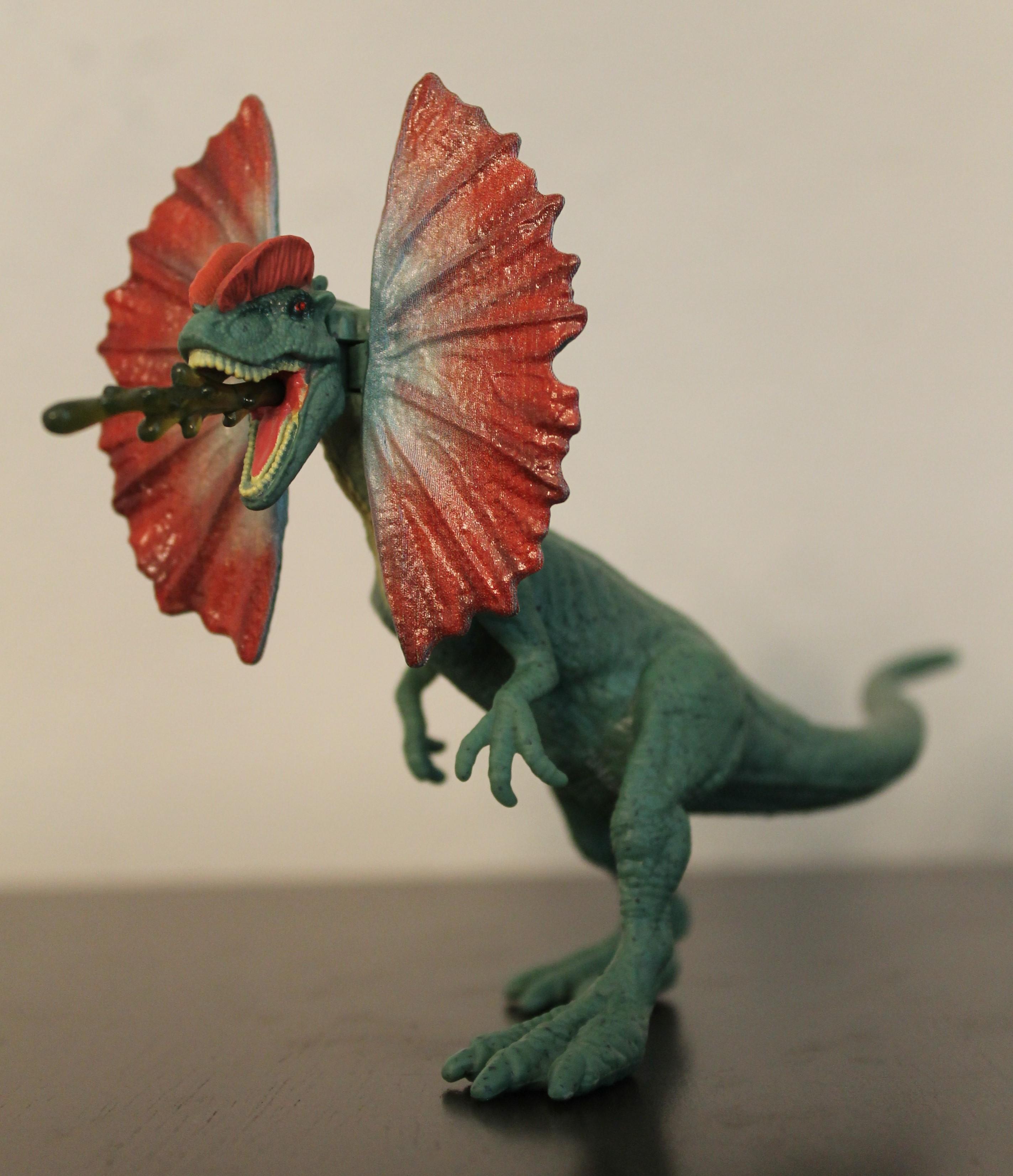 Jurassic World Mini Action Dino DILOPHOSAURUS Spitter Dinosaur Mattel New