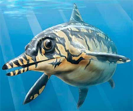 Офтальмозавр из рода Ихтиозавров