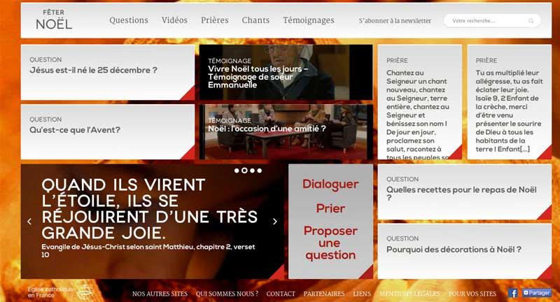 """""""Fêter Noël"""", le nouveau site de la CEF"""