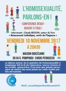 Affiche de la conférence sur l'homosexualité