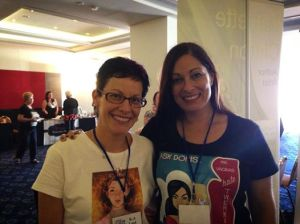 Author K.A. Last & I at Indie Authors Down Under book signing.