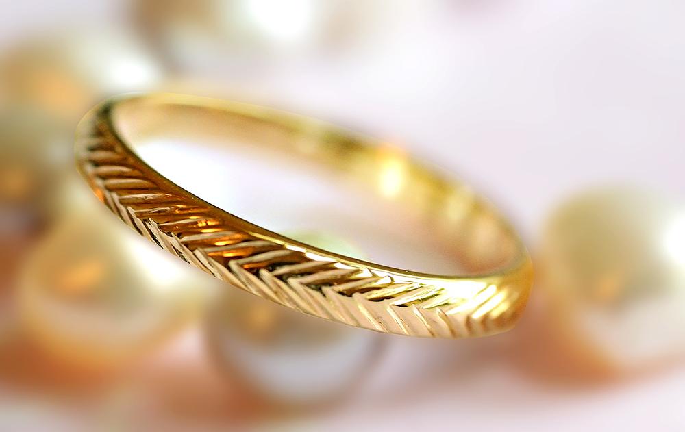 pattern wedding bands