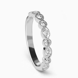 diamond art deco ring white gold