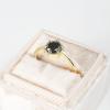 black diamond engagement ring in yellow gold