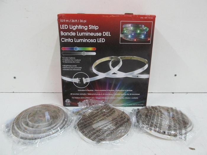 intertek indoor outdoor led flexible lighting strip 16 color changing lights 36 ft long