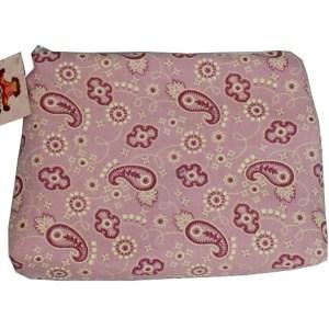 necessaire com estampa cashmere lilás