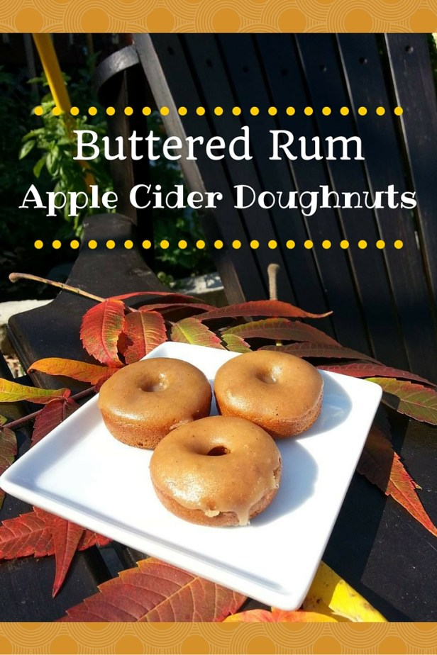 Buttered Rum Apple Cider Doughnuts