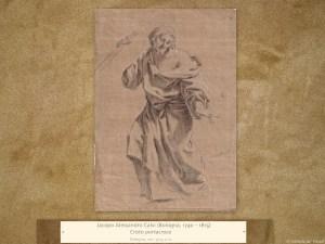 Jacopo Alessandro Calvi (Bologna, 1740 – 1815) | Cristo portacroce | Disegno, cm. 30,5 x 21.