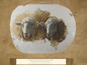 Dipinti antichi | Auguste François Bonheur (1824-1884) | Studio per due teste di pecora
